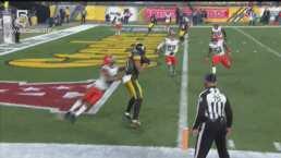 ¡No se rinden los Steelers! Claypool y James Conner recortan 48-37