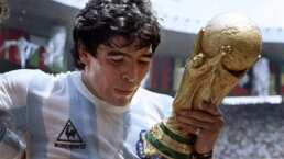 El momento en que levanta el título en México 86