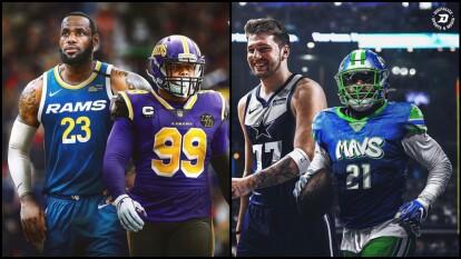 ¿Te imaginas si los diseños de los uniformes de estos deportes fueran opuestos?