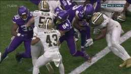 ¡Touchdown¡ Vikings aumenta la ventaja sobre Saints 20-10