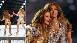 Este fue el conmovedor abrazo que se dieron Shakira y Jennifer Lopez detrás de cámaras
