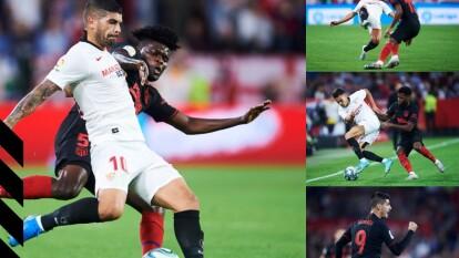 Con goles de Franco Vázquez al 28 y Álvaro Morata al 60, Sevilla y Atlético de Madrid empatan y se quedan con 21 unidades cada uno.