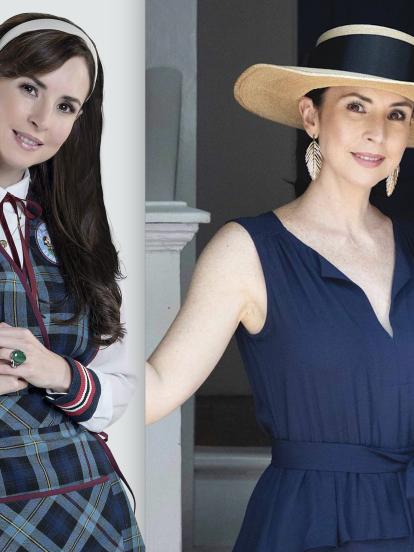 Para convertirse en 'La Nena', Andrea Torre deja sus looks fashions y en tendencia que modela en Instagram para ponerse su uniforme de maestra suplente de la suplente de kínder, que incluyen por lo general una blusa blanca y un delantal a cuadros.