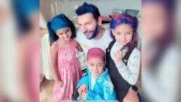 El esposo de Jacky Bracamontes y sus hijas se pintan el cabello ¡de colores!