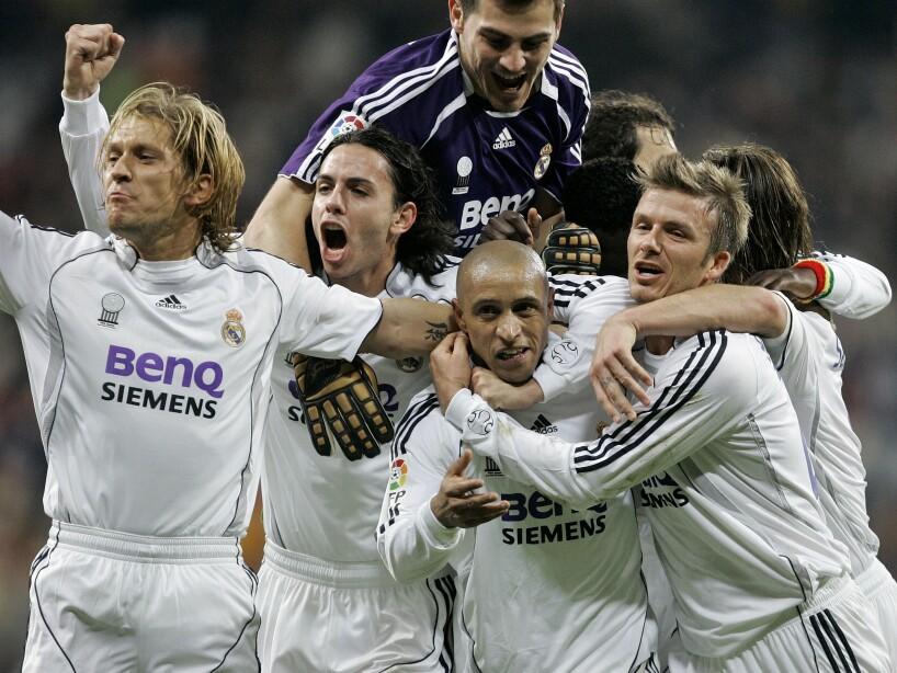 Roberto Carlos, David Beckham, Alvaro Mejia, Michel Salgado