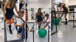 Daniella Álvarez aprende a usar su prótesis de pierna y comparte el proceso de su rehabilitación