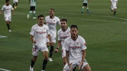 Lucas Ocampos de penal al 56' y Fernando seis minutos más tarde, fueron suficientes para otorgarle la victoria al Sevilla en casa.