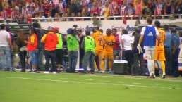 Gignac reacciona a provocaciones al final del partido