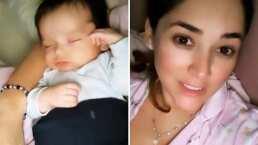 André, bebé de Sherlyn, no puede dormir en ningún otro lugar si no son los brazos de su mamá