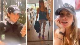 Tras cirugía en la rodilla, Geraldine Bazán le juega a la 'Maldita lisiada' y Camila Sodi se burla de ella