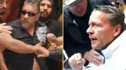 Video: Carlos Trejo golpea en la nariz a Alfredo Adame con una botella en conferencia de prensa