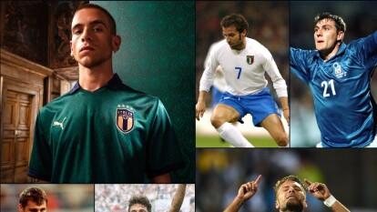 La escuadra italiana siempre ha utilizado los colores azul y blanco.