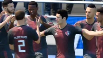 Luciano Acosta, el representante de Atlas, hizo lo que quiso con Francisco Venegas que no mostró habilidad en el futbol virtual.