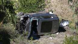 Tiger Woods y las imágenes aéreas de su carro destruido en accidente