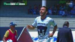 Tremendo golazo Vigón para estrenarse como goleador de Pumas