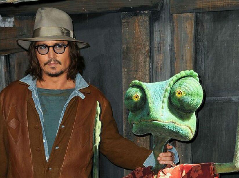 12. Johnny Depp: El actor prestó su voz a Rango, un camaleón que busca salvar a un pueblo entero.