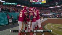 ¡Los Chiefs le dieron la vuelta! TD de Williams y ya lo ganan 20-24