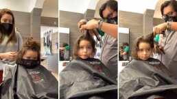 El hijo de Ariadne Díaz está listo para un cambio de look y asombra con su nuevo corte de cabello