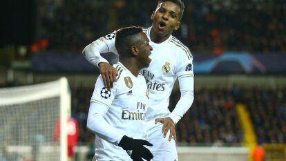 Con goles de Rodrygo, Vinícius y Luka Modric, los Merengues ganaron 1-3 de visitantes al Brugge.