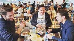 Captan a los protagonistas de Spider-Man comiendo tacos en México