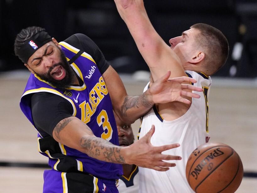 APTOPIX Nuggets Lakers Basketball