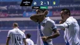 Puebla pega primero y aventaja la ida ante el León