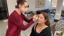 Hija de Andrea Legarreta muestra su proceso de maquillaje para su debut: 'Amo cómo me estás dejando'