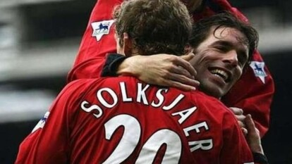 El ahora director técnico del Manchester United jugó un partido con el nombre de su camistea masl escrito, ya que escribieron Solksjaer en vez de Solskjaer