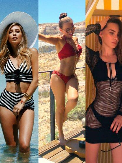 Estas famosas calentaron el verano y las redes sociales al lucir sus encantos en diminutos bikinis