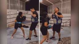 Eduin Caz recibe los mejores golpes de su esposa, Daisy Anahy