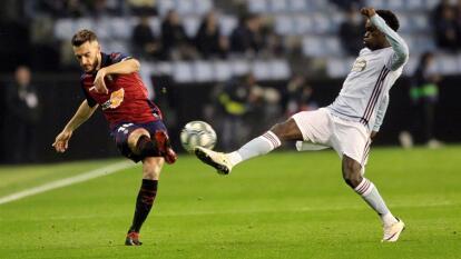 Se empata el partido entre Celta de Vigo y Osasuna con goles de Santi Mina y Ezequiel Ávila, respectivamente.