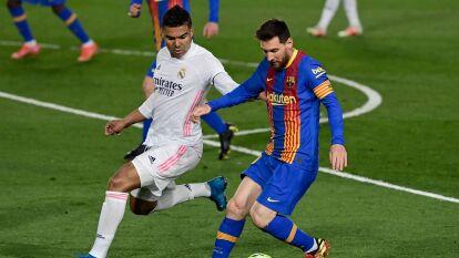 Casemiro sufre la ausencia de Messi para el Barcelona-Real Madrid