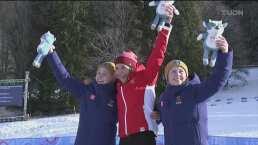 ¡Qué habilidad! Wigger y Holmboe dominan el esquí de fondo