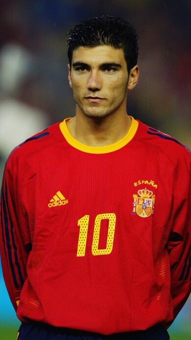 Jose Antonio Reyes of Spain during the team line up