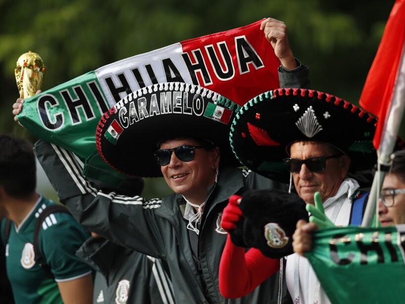 Los mexicanos llegan a Rusia desde diferentes puntos de la república