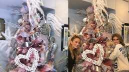 """""""Me quería saltar la Navidad"""": Andrea Escalona pone su árbol como homenaje a Magda Rodríguez"""