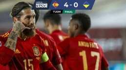Sergio Ramos y Ansu Fati pulverizan a la Ucrania de Shevchenko