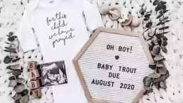 Con este emotivo vídeo Mike Trout anunció cuando nacerá su bebé