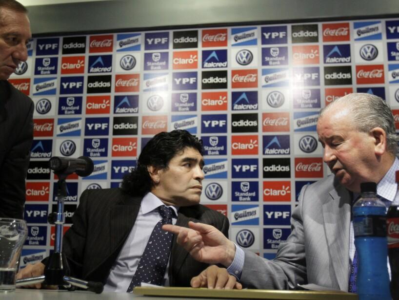 Diego Maradona, Carlos Bilardo, Julio Grondona
