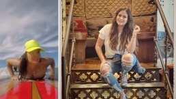 Mariana Echeverría luce cuerpazo mientras presume su talento para surfear