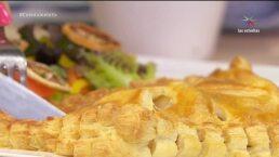 Receta: ¡Hojaldre relleno de pescado y manzana!