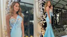 En espectacular vestido: Geraldine Bazán se va a una boda y muestra lo increíble que la pasó