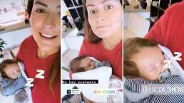 ¡Un bebé fit!: Mariana Echeverría encontró el método infalible para arrullar a su bebé