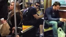 VIDEO: ¡Famosos que se transportan en metro!