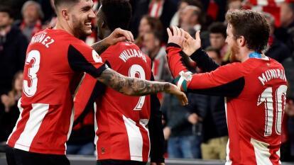 Con solitario gol de Iker Muniain, Athletic Club gana y se lleva el partido de ida de la semifinal de la Copa del Rey.
