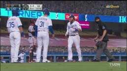 Se derrumba Cueto y Turner le conecta un home run de tres carreras