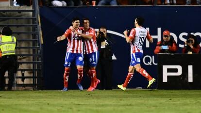 Con un doblete de Nicolás Ibáñez y gol de Germán Berterame, Atlético San Luis le pega al líder León.