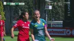 ¡Ruge la Fiera! Daniela Calderón marca el 0-1 con un cabezazo letal