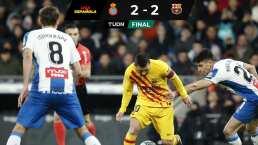 Espanyol amarra al Barça en derbi catalán