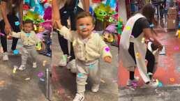 Mariana Echeverría comparte tierno video de Lucca eligiendo piñata de cumpleaños